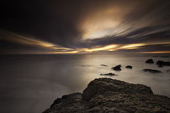 Out Of Time (maxxsmart) Tags: ocean california longexposure sunset sea sky bw seascape color water fog clouds canon landscape rocks marin lee bayarea marincounty rodeobeach ndfilter 5dmarkii leendgrad thecolorswitch