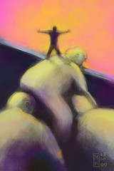 On the shoulders of giants (Matthew Watkins) Tags: original fiction color colour art illustration digital colorful ipod image drawing matthew unique isaac fineart touch creative humour story irony brushes editorial giants shoulders sir stories shoulder watkins app visualart newton artworks fingerpainting fingerpaint fingerpainted iphone on shouldersofgiants ipodtouch iphoneart brushesapp digitalartworks iphoneartworks mobilartworks