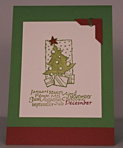 december card/december kaart