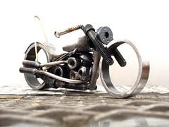 Metal Art Motorcycle 1957 Harley Davidson Panhead bobber