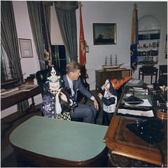 Halloween Visitors to the Oval Office. Caroline Kennedy, President Kennedy, John F. Kennedy, Jr. White House, Oval Office, 10/31/1963 (The U.S. National Archives) Tags: holiday halloween witch president whitehouse jfk johnfkennedy ovaloffice 1963 halloweencostumes johnfkennedyjr presidentjohnfkennedy presidentkennedy carolinekennedy jfkjr usnationalarchives nara:arcid=194260 10311963 october311963