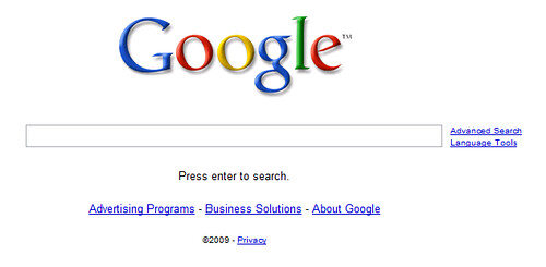 "Google Home Page ""Press Enter"""