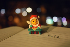 """Dear Santa... this year I'd like to""... (Love is the key) Tags: santa christmas winter light red black cold colors writing canon eos book dof bokeh libro happiness presents pooh claus winnie inverno natale freddo babbo scrittura 450d bokehlicious"