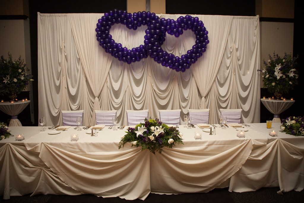 Wedding Reception Head Table Decorations Head Table