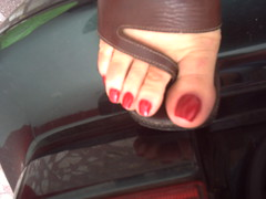 mi camara octubre 040 (sandalman444) Tags: red men hand sandals nail polish made pedicure custom toenails longtoenails toerrings