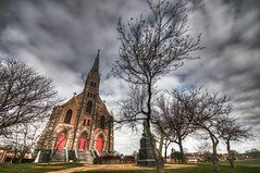 The Great Beyond (_Robert C_) Tags: nyc trees ny church clouds surreal sigma steeple statenisland 1020mm rem hdr d300 thegodfather photomatix mountloretto robertcatalano