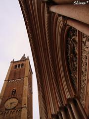 Parma (Chiara M.) Tags: campanile parma duomo orologio battistero portone fulmine bellitalia