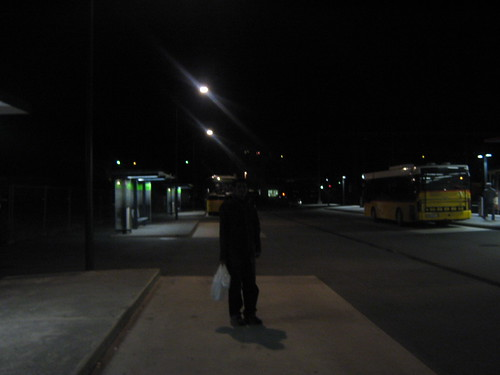 on the way to the bus to torgon
