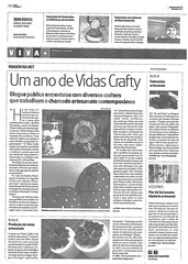 Vidas Crafty + Pontos de Luz no Jornal de Notícias