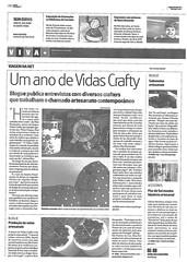 Vidas Crafty + Pontos de Luz no Jornal de Notícias