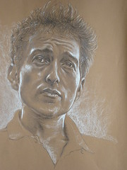 Bob Dylan (Sean-Cronin) Tags: portrait musician music white dylan art pencil drawing pastel bob bobdylan singer songwriter conte colourpaper
