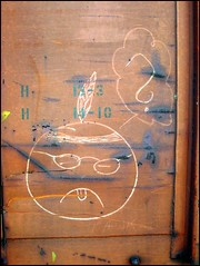 unknown-indian (GT Camera (aka greenthumb)) Tags: railroad art face sketch chalk indian trains unknown boxcar crayon frown bca moniker paintstick boxcarart unknownindian