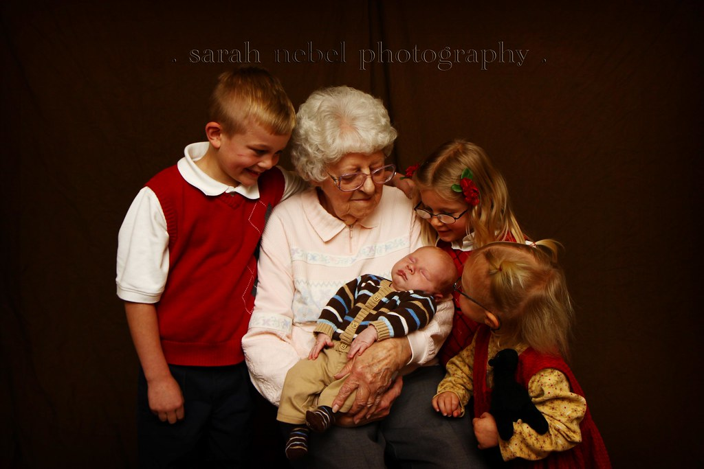 . the matriarch and her great grandchildren .