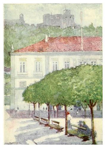 005-Un rincon entre el Ayuntamiento y el convento en Thomar-Through Portugal 1907- A.S. Forrest