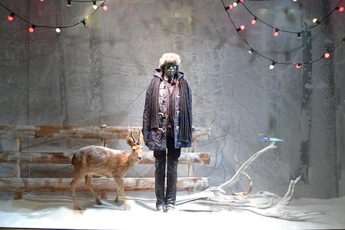 Vitrines de Noël - Printemps de l'homme - Paris decembre 2009