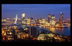 The city of Rotterdam (scrabble.) Tags: holland netherlands skyline rotterdam skyscrapers neworleans montevideo hotelnewyork euromast erasmusbrug theswan erasmusbridge wilhelminapier dezwaan theaterhetnieuweluxor