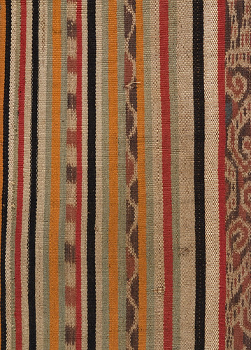 //Bidang// (detail), Iban people. Upper Rajang river, Kapit Division of Sarawak, 20th century, 110 x 61 cm. Ikat technique. From the Teo Family collection, Kuching. Photograph by D Dunlop.