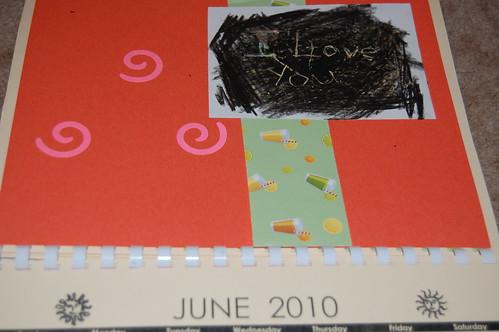 Adam's calendar gift - June