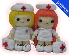 Nurse Jazzy (Amigurumi by K and J Dolls) Tags: nurse amigurumi krankenschwester crochetpattern crochetdoll nursedoll crochetgirl amigurumipattern amigurumidoll hkelanleitung amigurumigirl crochetdollpattern crochetgirlpattern nursecrochetpattern krankenschwesterhkelanleitung