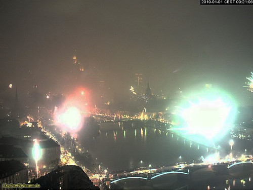 Frankfurt Main Webcam on New Years 2010