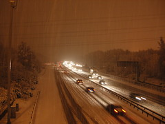 M27 Eastbound in the snow