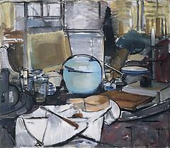 Mondrian, Piet (1872-1944) - 1911-12 Still Life with Ginger Pot I (Guggenheim Museum, N.Y.C.) (RasMarley) Tags: stilllife dutch interior painter guggenheim 1910s 20thcentury mondrian 1911 cubism pietmondrian postimpressionism stilllifewithgingerpoti