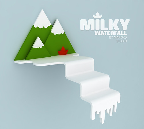 Milky waterfall / shelf