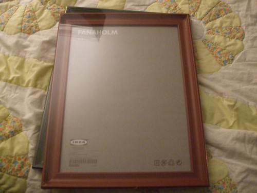 start with two 11x16 frames from ikea 11x16 was overkill i really should have done a size smaller