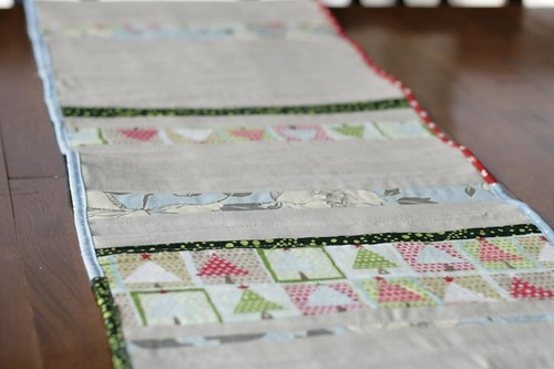 For Natalie, Christmas table runner + napkins