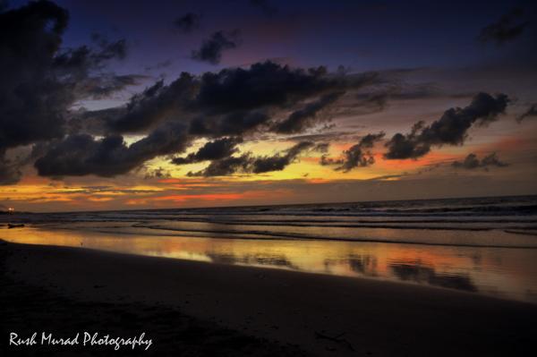 Sunset at Similajau, North Borneo. Malaysia