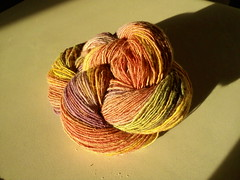 Finished yarn - handspun gradient carded singles