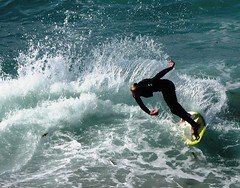 Skim boarding excitement, Turning with Style (moonjazz) Tags: ocean california wild sports wet water speed turn fun wake waves pacific legs zoom body cut board free fast rush balance swift wakeboard strength swish success exciting skill skim concentrate splach