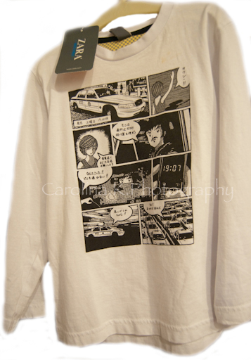 Japanese Manga T-Shirt In Zara - January 14, 2010