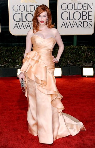 Christina Hendricks arrives at the 67th Annual Golden Globe Awards