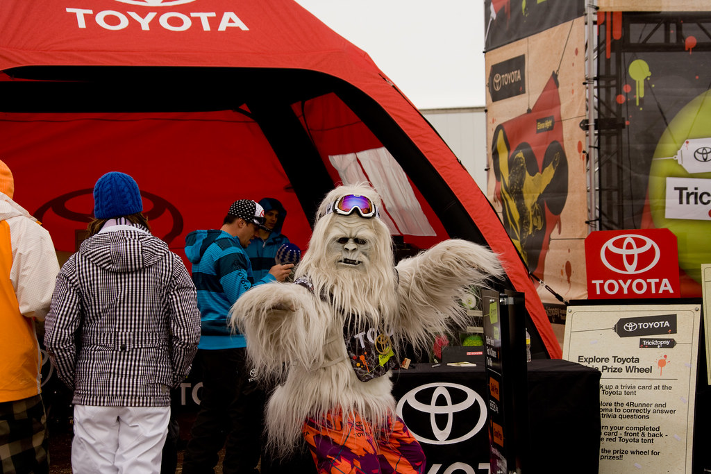 Hey Winter Dew meet the Yette the Toyota mascot