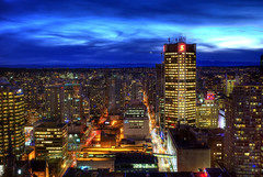 Vancouver Blue Hour (HDR) (Brandon Godfrey) Tags: world pictures longexposure windows light wallpaper urban canada mountains streets building beautiful vancouver buildings wonderful landscape photography lights photo amazing twilight scenery long exposure downtown cityscape bc metro photos shots pics dusk earth britishcolumbia sony towers scenic picture trails free pic scene canadian western pacificnorthwest northamerica bluehour unreal alpha incredible hdr highdynamicrange 2010 harbourcentre lowermainland a300 backround scotiatower tonemapped vancouverblockbuilding