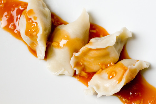 Pork Dumplings with Red Sauce 2
