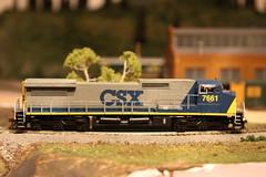 CSX 7661 (dangaken) Tags: dash8 dash840cw ho train railroad modelrailroad hotrain layout csx pere marquette gaken dangaken dgaken canon wwwflickrcomdgaken photobydangaken