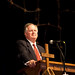 President Loren Swartzendruber engaged the audience at convocation chapel.