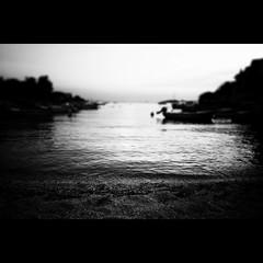 Beach life (Christer Johansen) Tags: leica sea blackandwhite bw beach water salt croatia rogoznica dlux4