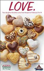 Krispy Kreme Heaert-Shaped Doughnuts