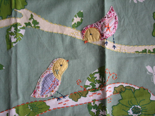 detail of tea towel
