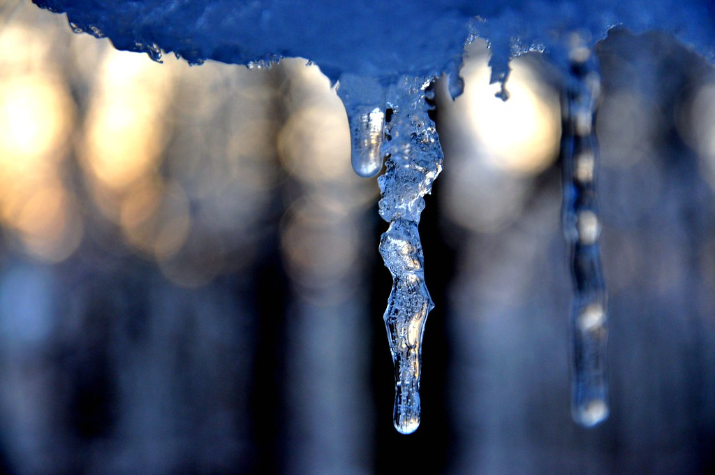 Wobbly Icicles at Sunrise