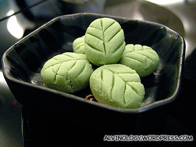 Cutely shaped wasabi cubes