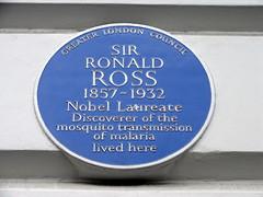 Photo of Ronald Ross blue plaque