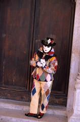 Arlecchino (Sillar) Tags: carnival venice color film daylight colore fuji masks carnevale venezia harlequin maschere giorno velvia50 pellicola nikkor50mmf14 arlecchino piazzasmarco nikonf4s