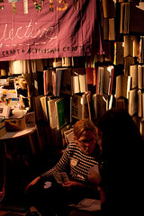 United Underground 2. 20th Feb 2010 (craftivist collective) Tags: peace conflict doves craftivism wishtree ctrlaltshift unitedunderground craftivistcollective miniprotestbanners speechbubblebageds