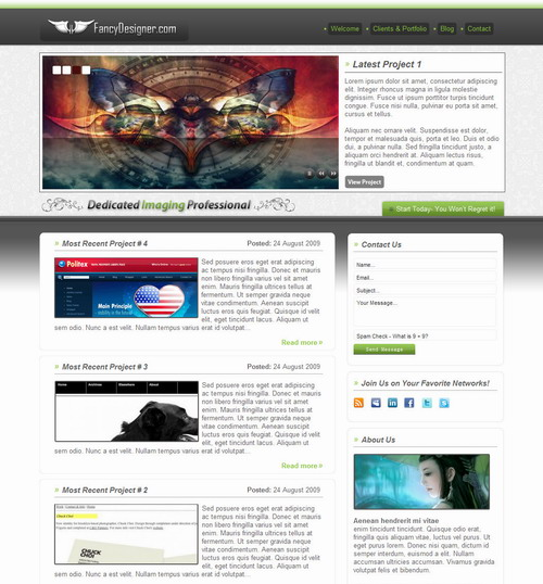 Fancy Blog – JooMagic Joomla! Template