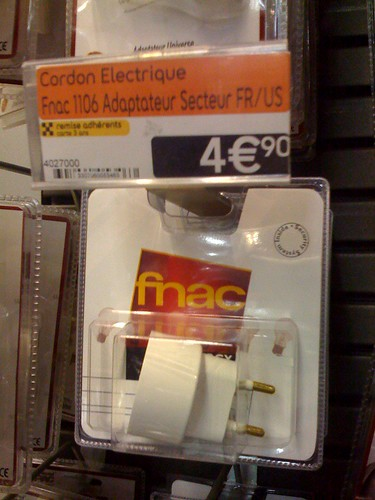 euro to USA power adapter for sale in paris