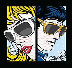 Oakley Store Window Pop Art (Mel Marcelo) Tags: portrait sunglasses fashion vintage poster vectorart faces retro popart windowdisplay oakley adobeillustrator spotcolors melito melmarcelo justinjuttler